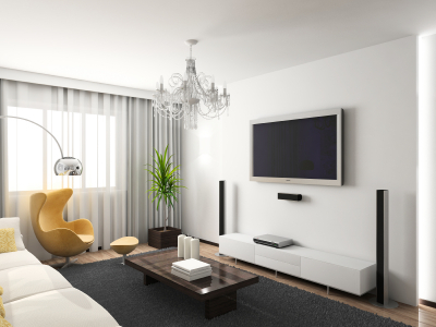 Modern Living Rooms on Modern Living Room With Chandelier   Modern Apartments