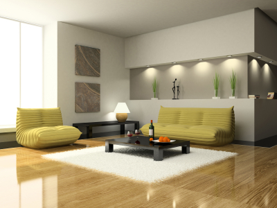 Modern Living Room with Unique Seating - Modern apartments