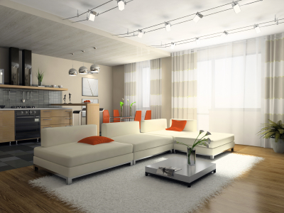 Modern Living Rooms on Modern White   Cream Living Room   Modern Apartments