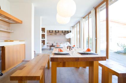 Modern Wood Dining Room