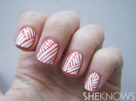 Mummy wrapped nail design