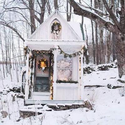 Outdoor winter studio