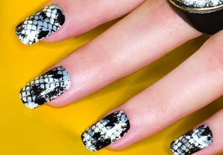 ORLY Snakeskin Nail Design
