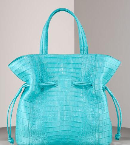 Nancy Gonzales Matte Crocodile Tote