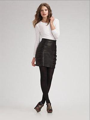 Nanette Lepore leather skirt