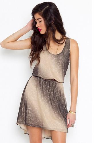 Ombre sparkle dress