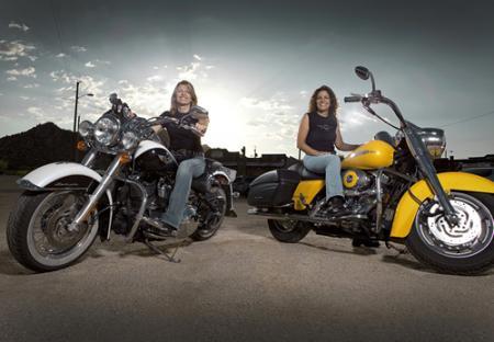 Natalie and Darnell Harley-Davidson