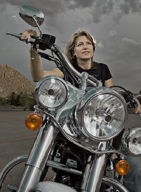 Nat and her Harley-Davidson