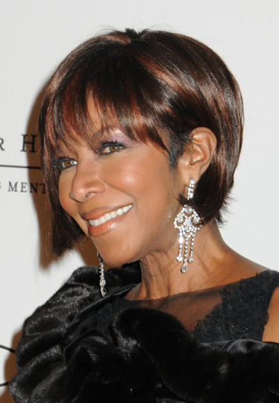 Natalie Cole's chic, bob hairstyle