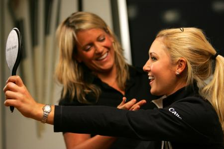 Natalie Gulbis at the Bobbie Brown Studio