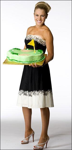 Natalie Gulbis Golf Course Cake
