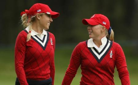 Natalie Gulbis and Morgan Pressel