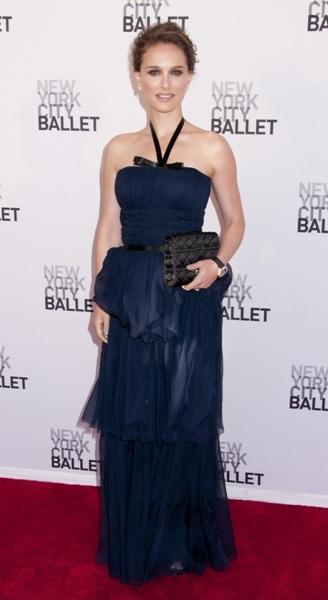 Natalie Portman tiered dress