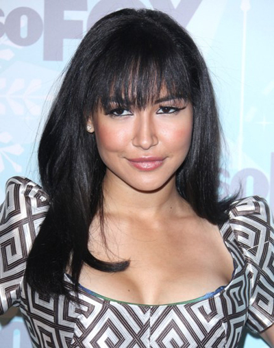 Naya Rivera rocks full, sexy bangs!