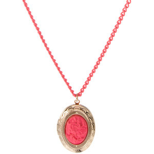 This neon necklace in an eye-popping shade of fuchsia really caught our attention. Available from Asos.com.