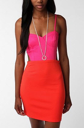 Color block! This cut-out dress is Lucca Couture from Urban Outfitters.