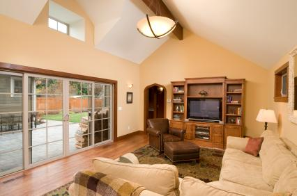Neutral Colors & Vaulted Ceilings
