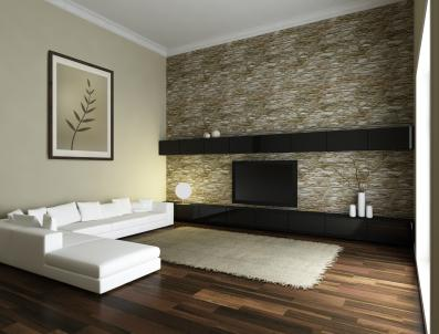 Neutral Walls & Bold Fabric Wallpaper