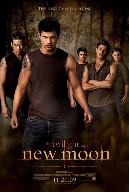 Jacob Black (Taylor Lautner) and the wolf pack for New Moon promotion