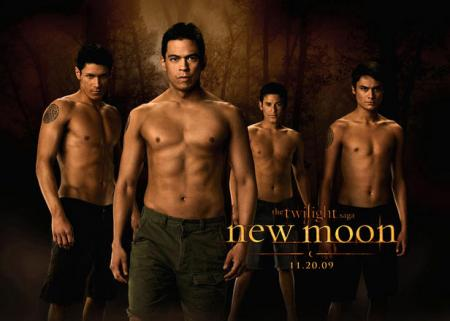 The wolf pack of Twilight's New Moon