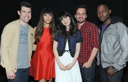 Cast of the hit FOX television show New Girl at PALEYFEST2012