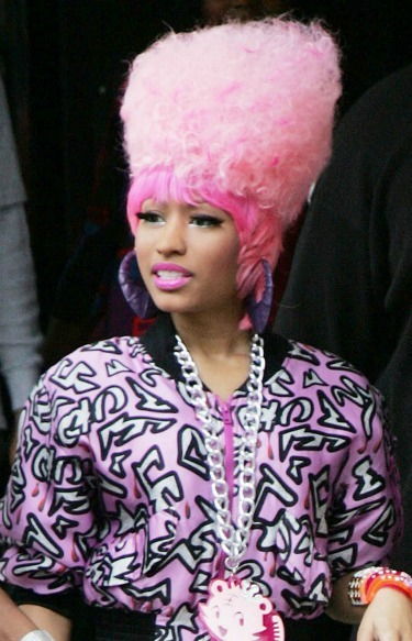 Nicki Minaj's cotton candy pink