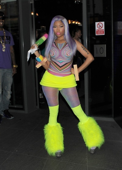 Nicki Minaj is not shy in neon