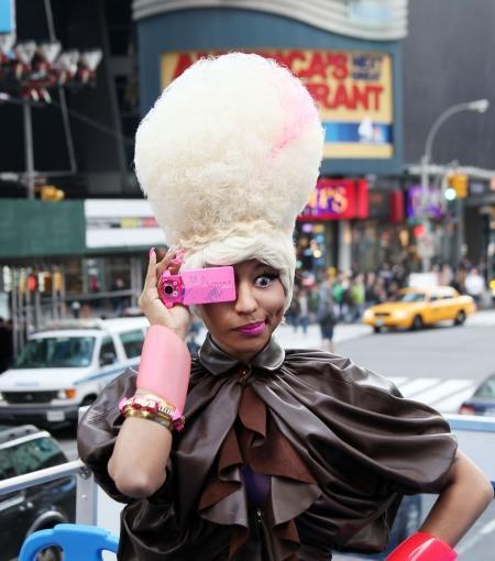 Nicki Minaj in Times Square