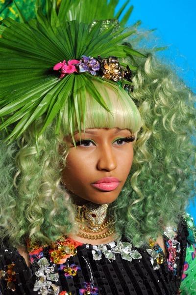 Nicki Minaj's green rainbow