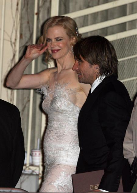 Nicole Kidman and Keith Urban at the Vanity Pair Oscar post-party
