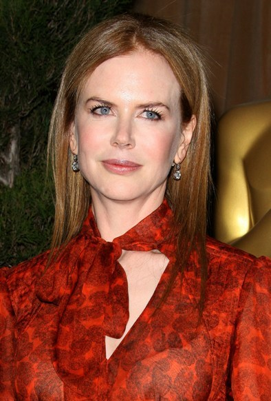 Nicole Kidman's sleek, straight hairstyle