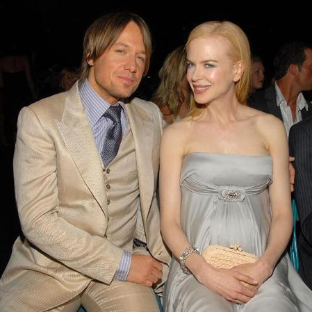 Pregnant Nicole Kidman with Keith Urban