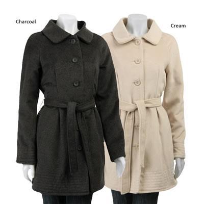 Nicole Miller Button-up Wool Coat