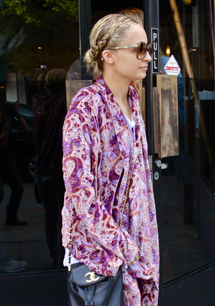 Nicole Richie's braided 'do