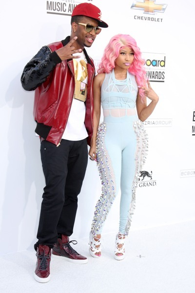 Nikki Minaj poses with a friend