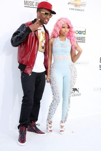 Nikki Minaj poses with a friend