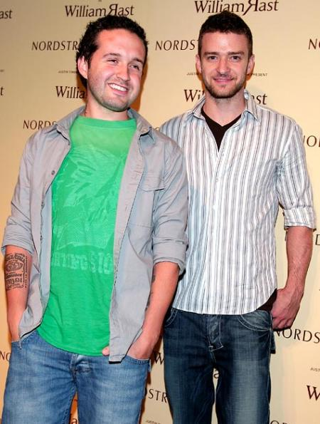 Trace Ayala and Justin Timberlake at a Nordstrom sponsored event