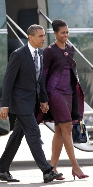 Michelle Obama in all purple