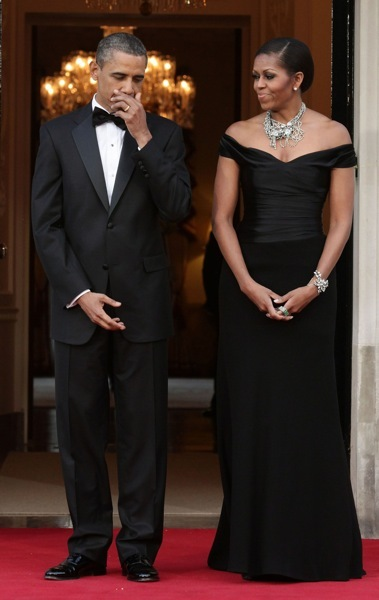 Michelle Obama in a gown