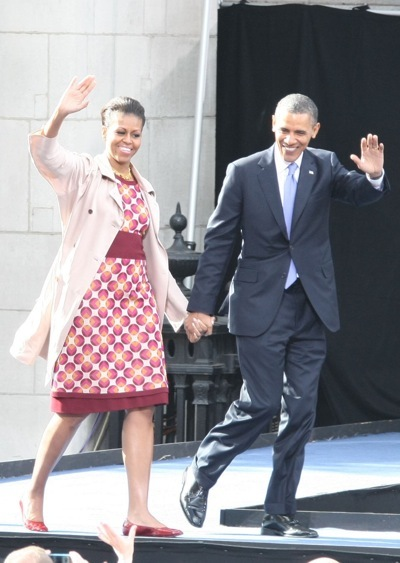 Michelle Obama in a skirt