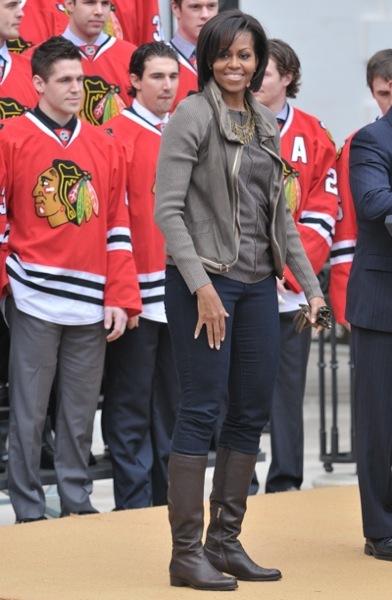 Michelle Obama in skinny jeans