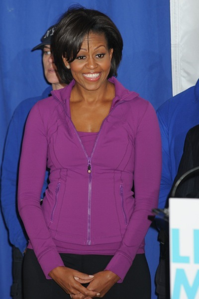 Michelle Obama in a track jacket