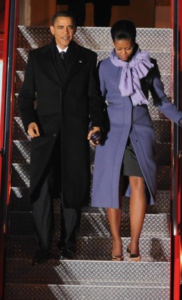Michelle Obama in violet