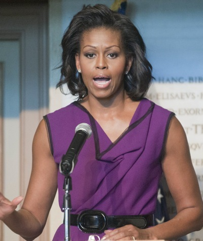 Michelle Obama in purple