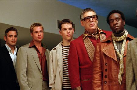 The men of Ocean's Thirteen stand together