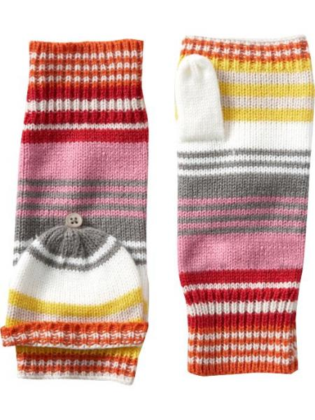 Old Navy Striped Convertible Mittens