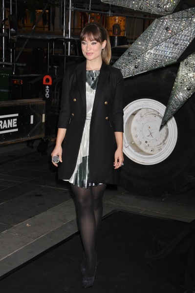 Olivia Wilde in a peacoat