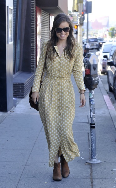 Olivia Wilde in booties
