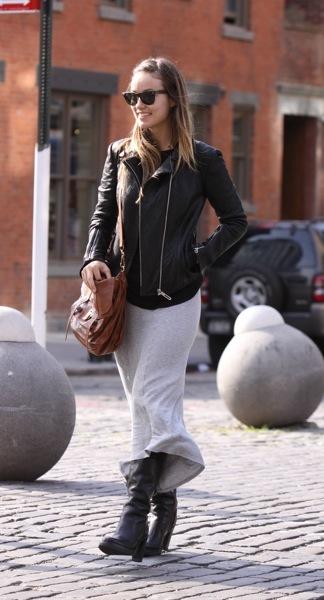 Olivia Wilde in maxi skirt
