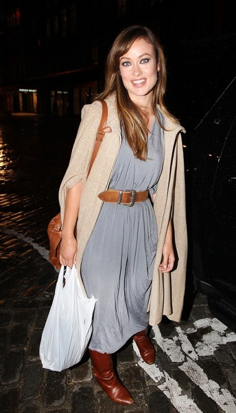Olivia Wilde in grey dress